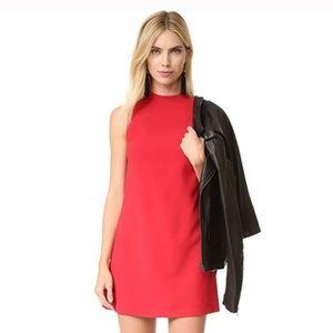 Alice + Olivia Coley Mock Neck A-Line Red Dress
